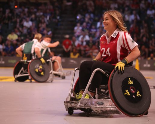 woman athlete in a wheelchair